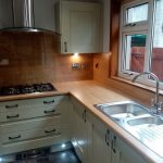 Photo showing the finished Vision kitchen for Mrs D